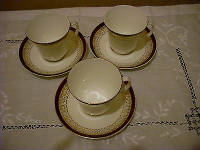 Vintage Royal Grafton 'Majestic' 3 Cups and Saucers