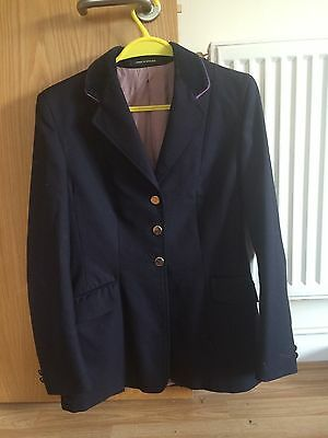 Alexander James Ladies / Maids Navy Competition Riding Show Jacket Coat