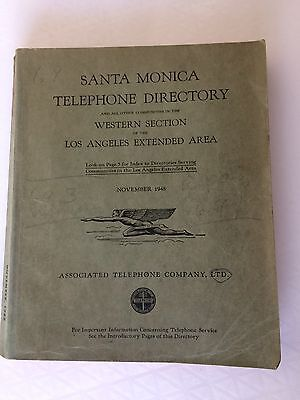 1948 SANTA MONICA and WESTERN SECTION LOS ANGELES Phone Directory RARE
