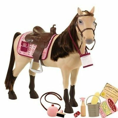 """NEW Our Generation Poseable 20"""" Morgan Horse fits American Girl Saige Nikki"""