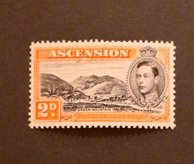 Ascension Island 1944 2d Green Mountain MNH