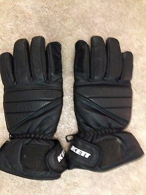 Kett Thinsulate Lined Leather Motorcycle Gloves  - Size Xl - G/cond