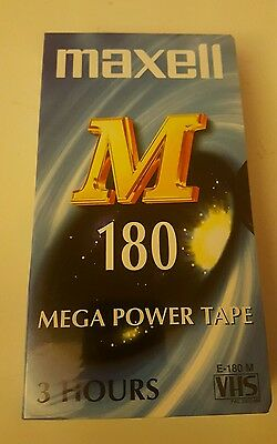 maxell M 180 mega power tape 3 hours sealed