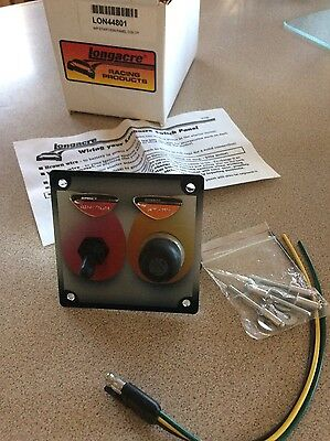 NOS Longacre 44801 Start / Ignition switch panel with weatherproof covers
