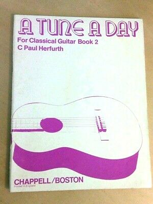Classical Guitar Book 2 Herfurth Urwin A Tune a Day Tab Music Method School 70's