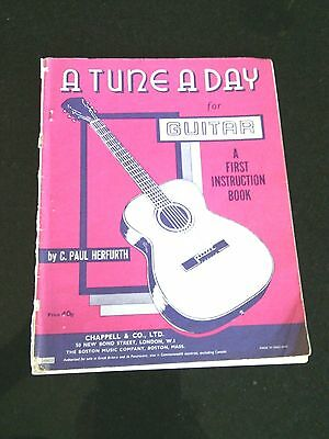 A Tune A Day Guitar First Instruction Book Lessons Course Playing C.P.Herfurth