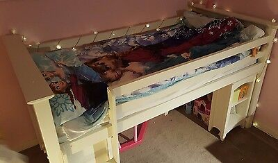 Bunk bed with storage furniture white