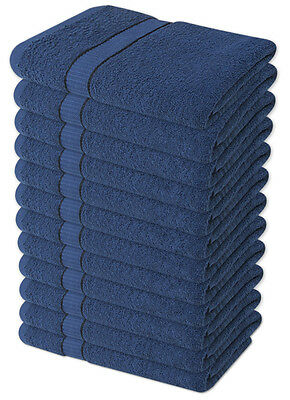 6 x Navy Luxury 100% Cotton Hairdressing or Beauty Salon Towels 68 x 137cm