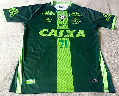Chapecoense AF Official 2017 Away Jersey, Tribute Version Mens Large BNWT
