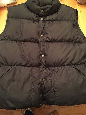 L.L. Bean Vintage Men's Goose Down Vest Large Black