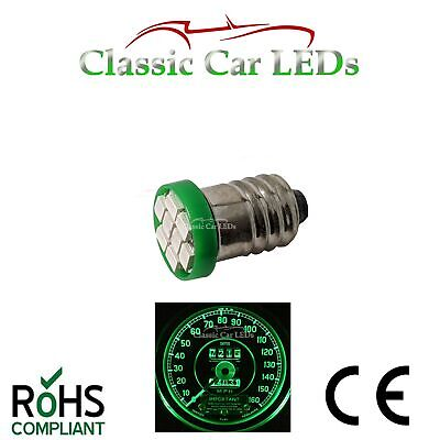 Triumph TR6 Green Gauge 10 x LED Bulbs Upgrade kit GLB987 E10 MES 987
