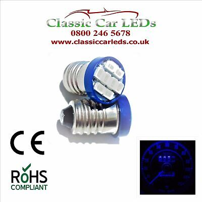 Triumph TR6 Blue Gauge 10 x LED Bulbs Upgrade kit GLB987 E10 MES 987