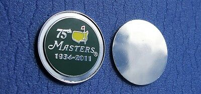 FLAT 1 inch 2011 US MASTERS special 75th Anniversary Golf ball marker