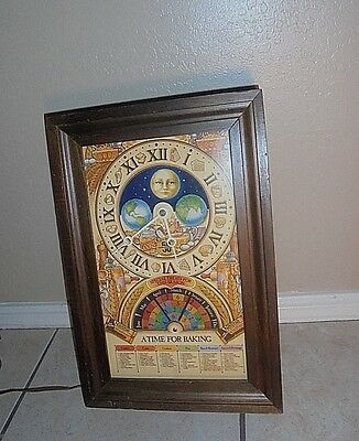 Nestle 50Th Anniversary Clock Moon Face Good Condition W/ REQUIRED Setting Tool