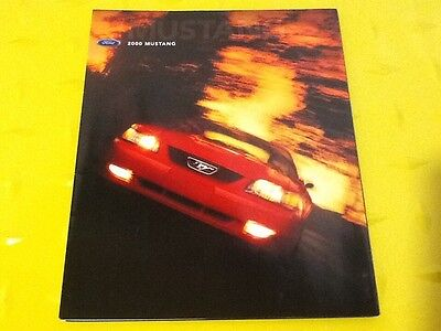 2000 Ford Mustang GT & Mustang Folder Style Dealer Sales Brochure