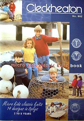 Cleckheaton Knitting Pattern Book - MICRO KIDS CLASSIC KNITS 14 Designs in 8 Ply