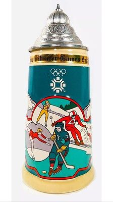 1984 Sarajevo XIII Olympic Games Collectible Stein by Wallace Berrie & Co RARE