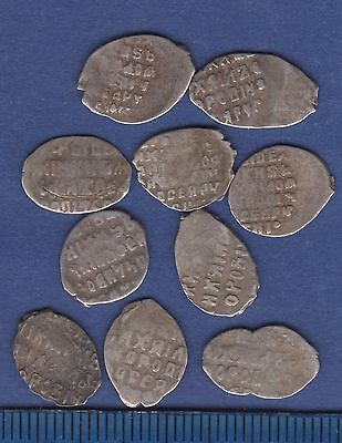 Mikhail Fedorovich Romanov. Lot of 10 wire coins. Kopeck