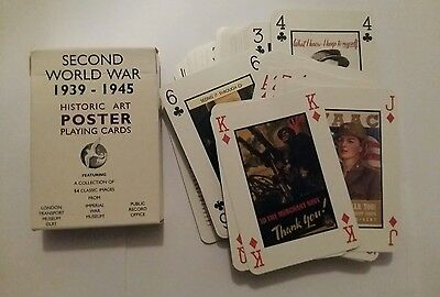 Playing cards featuring Second World War posters