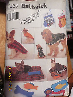 Butterick Crafts  Pattern - Pet Accessories Package - Dog & Cat - 4226 - Xs - Lg