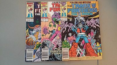 (1986) Marvel Comics Transformers The Movie Limited Edition Set #1,2,3 F/vf