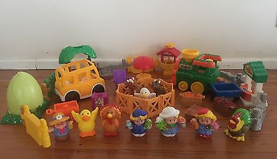 Fisher Price Little People Bulk Farm Animals Accessories Car