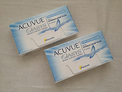 Acuvue Oasys Astigmatism 2 boxes of -6.5