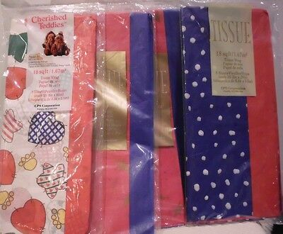 CPS Corp Holiday Tissue  Lot of 4 packs  18 sq ft per pack