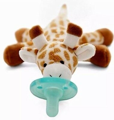 NEW Silicone Soothie Pacifier Plush Baby 0-6 Months Giraffe