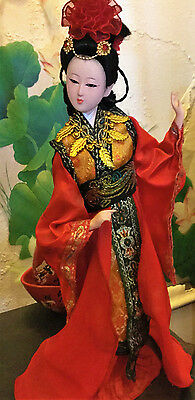 Chinese Beauty Geisha Doll Collectors statue w decorating display set up lamp
