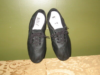 New BLOCH Soft Leather Black Jazz Dance Shoes size 1.5