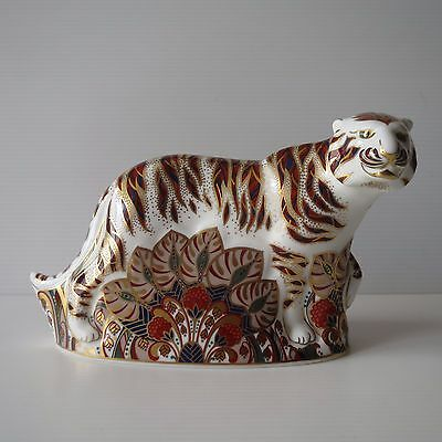 Royal Crown Derby, Imari Style Bengal Tiger, Gold Stopper, English Fine China