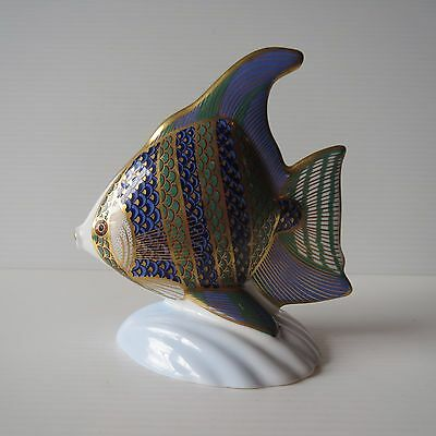Royal Crown Derby, Imari Style Angel Fish, Gold Stopper, English Fine China