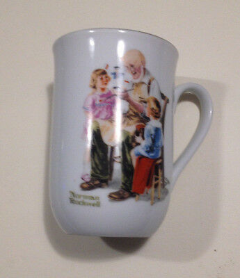 "1982 NORMAN ROCKWELL MUSEUM "" The Toymaker "" Vintage MUG coffee Love Freindship"