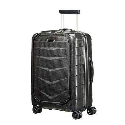 Samsonite Lite Biz 55cm Small Carry On Spinner Suitcase/Luggage Black