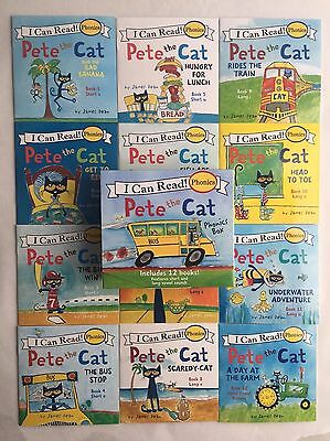 Pete the Cat Childrens Kids Books Phonics I Can Read Box Gift Set Lot 12