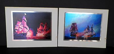 Set of 4 Color Etch PRINTS William Van Powell's REVOLUTIONARY WARSHIPS of 1776