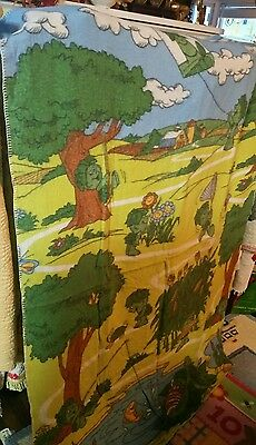 Vintage 1970's Little Sprout Jolly Green Giant Blanket Throw