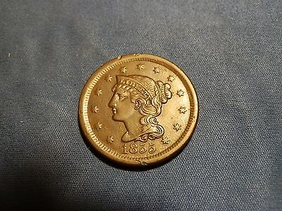 1855 Braided Hair Large Cent - EF