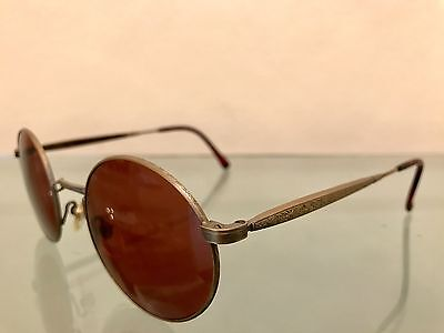 Matsuda Eyewear - Vintage 1990s Brand New Antique Gold Sunglasses Authentic