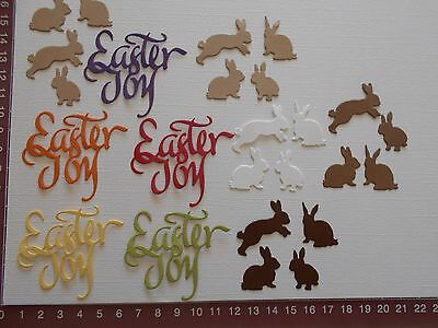 Die Cuts - Easter Embellishments - Words, Rabbits