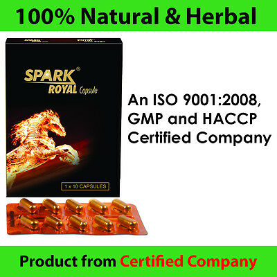 Spark Royal Male Sex Performance Enhancement Sexual Stimulant Capsules 10 tabs