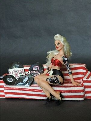OOAK art doll Candy handmade 1:12  pin up doll house miniature by G2creations