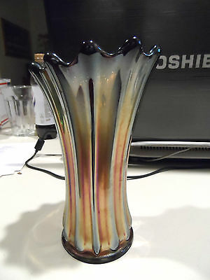 "7 3/4"" Classic Era DEEP Purple ""Corinth"" By Westmoreland Carnival Glass Vase"