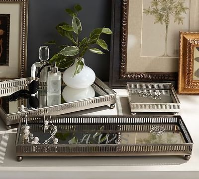 ~* Auth. Pottery Barn Mirrored Dresser-Top Tray *~