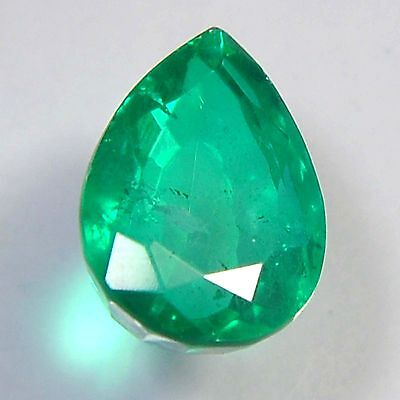 E21@ 8.40 Cts royal green emerald doublets quartz pear cut gemstone for jewelry