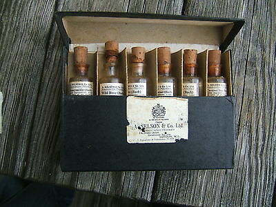 HOMEOPATHIC REMEDIES  FRAGRANCES. A NELSON Co. Ltd. LONDON. IN CASE.4 FULL VIALS