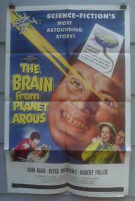 The Brain From Planet Arous1957 original science-fiction one-sheet