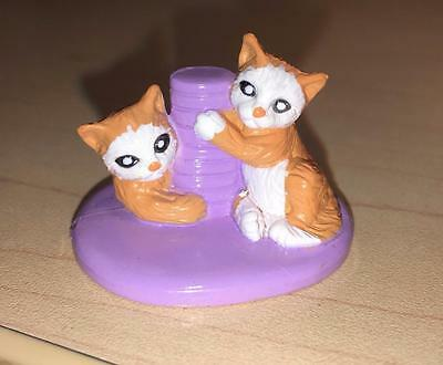 Fisher Price Sweet Streets 2 Kittens Scratching Post Cats purple orange white