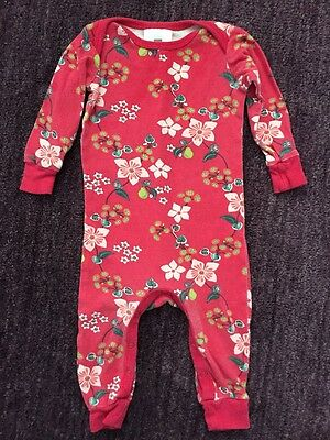 TEA COLLECTION Pink Floral Print One Piece Outfit Romper Sleeper 3 6 mo